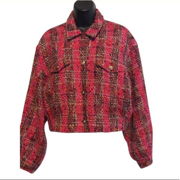 Ungaro Jackets & Blazers - Ungaro Pink Tweed Bomber